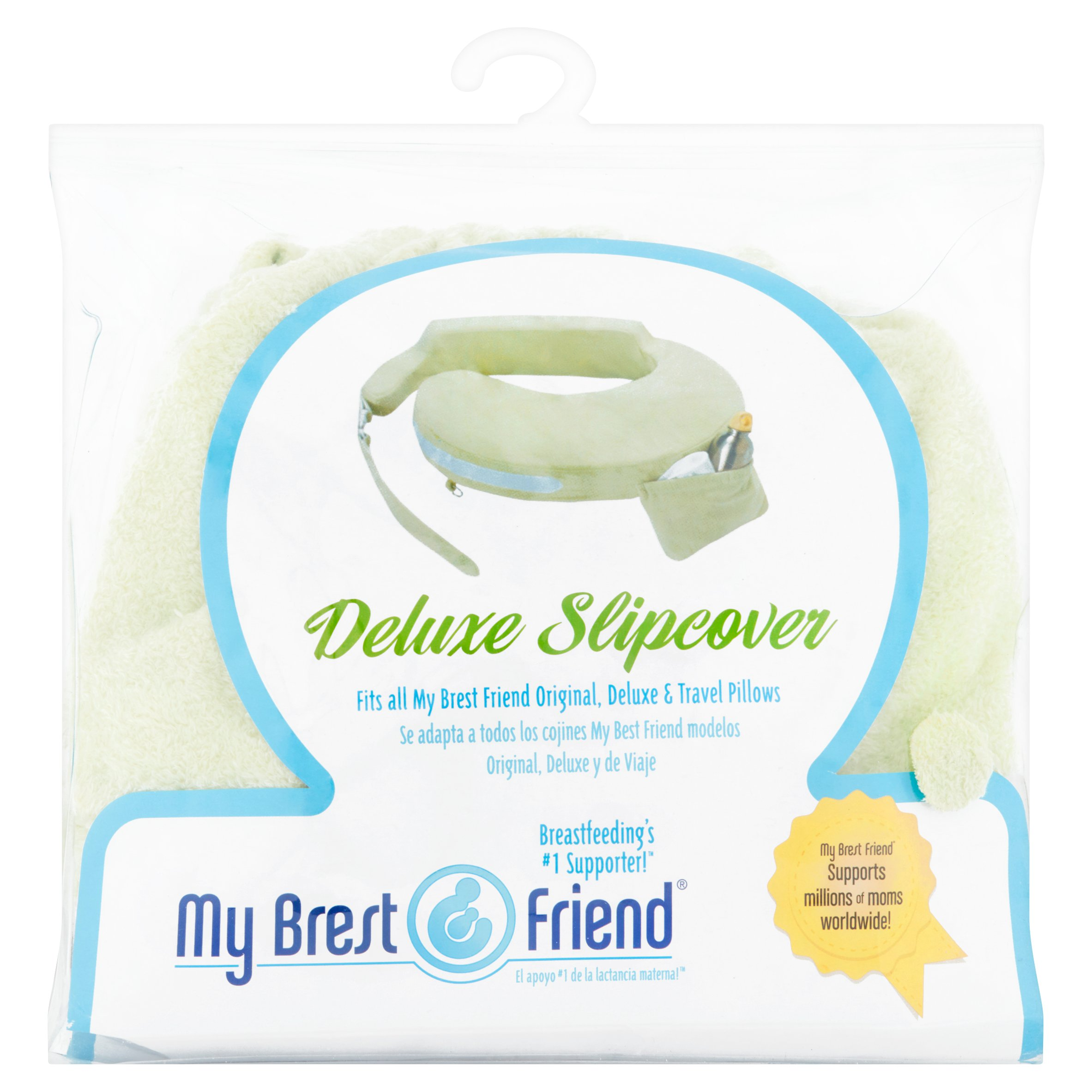 My Brest Friend Deluxe Nursing Pillow Slipcover (pillow not included), Green by My Brest Friend