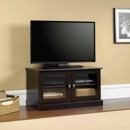 Sauder Entertainment Stand for TVs up to 37″, Cinnamon Cherry Finish