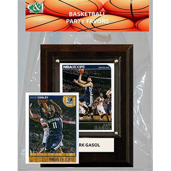 Candlcollectables 46LBGRIZZLIES NBA Memphis Grizzlies Party Favor With 4 x 6 Plaque