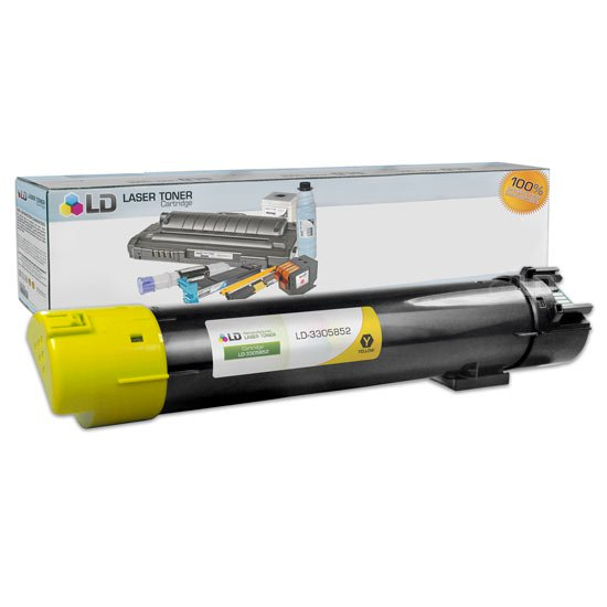 LD Compatible Replacement for Dell 330-5852 Yellow High Yield Laser Toner Cartridge for use in Dell Color Laser 5120cdn,