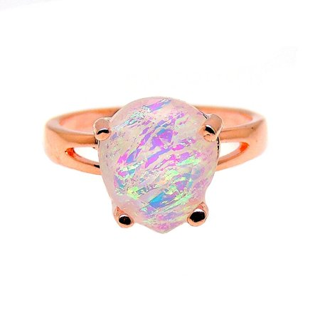 Tourmaline Collection (Aviana Large Teardrop Lab Created Fire Opal Ring - Ginger Lyne)