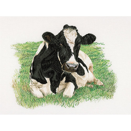 Thea Gouverneur Counted Cross-Stitch Kit, Cow