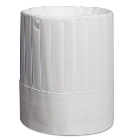 Pleated Chef's Hats, Paper, White, Adjustable, 9 in Tall, 24/Carton for $<!---->