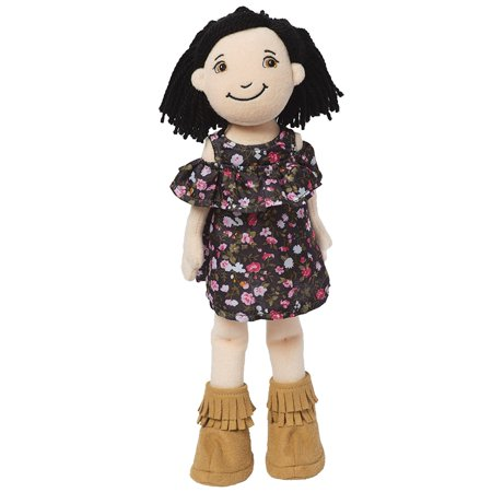 Yarn Dill (Groovy Girls Katy Fashion Doll, Adorned with stylized hair of copper-brown yarn, a pink floral dress, and strappy sandals By Manhattan Toy From USA )