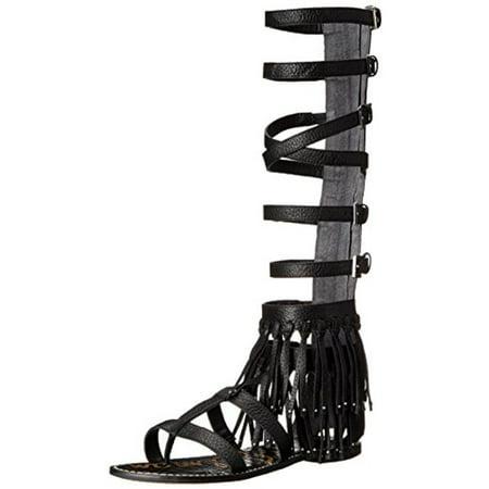 f941435d7 Sam Edelman - Sam Edelman Womens Gardenia Strappy Fringe Gladiator Sandals  - Walmart.com