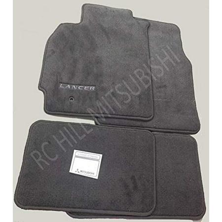 Mitsubishi 2002 2003 2004 2005 2006 Genuine Lancer Carpet Floor MATS Grey ALN03XFB01 (Mitsubishi Front Mat)