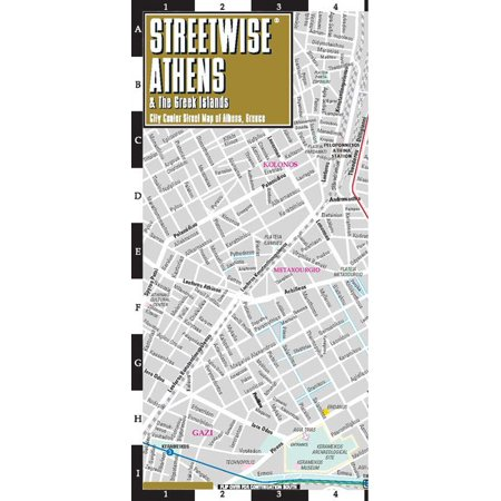 Streetwise athens & the greek islands map - laminated city center street map of athens, greece - fol: -