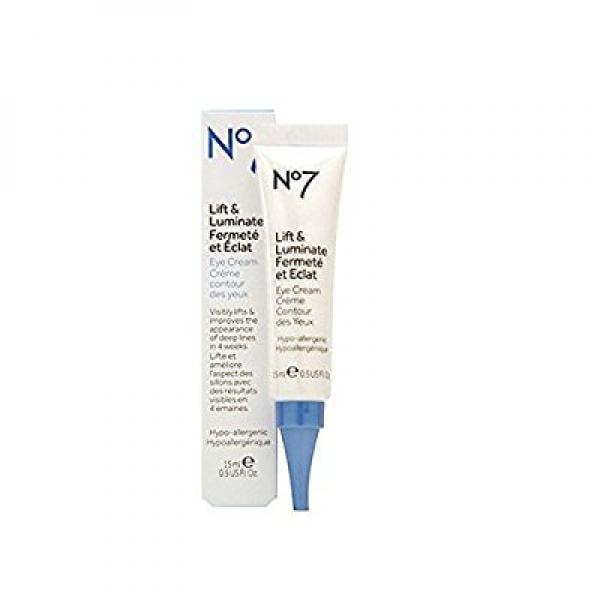 Boots No7 Lift and Luminate Eye Cream, 0.5 oz/15 ml