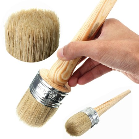 50mm Dia Wooden Handle Round Bristle Tool Chalk Oil Paint Painting Wax Brush