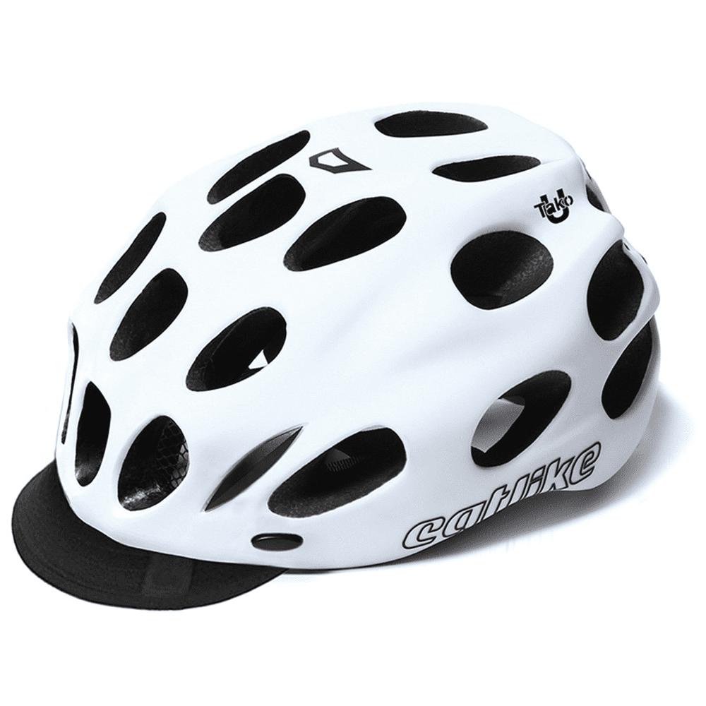 Catlike Tako Urban Bike Helmet w/ Visor Large Matte White Unisex Adult