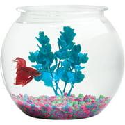 "Hawkeye 2 Gallon Fish Bowl, Bubble Shaped, Shatterproof Plastic 9.5"" Diameter x 9"" H"