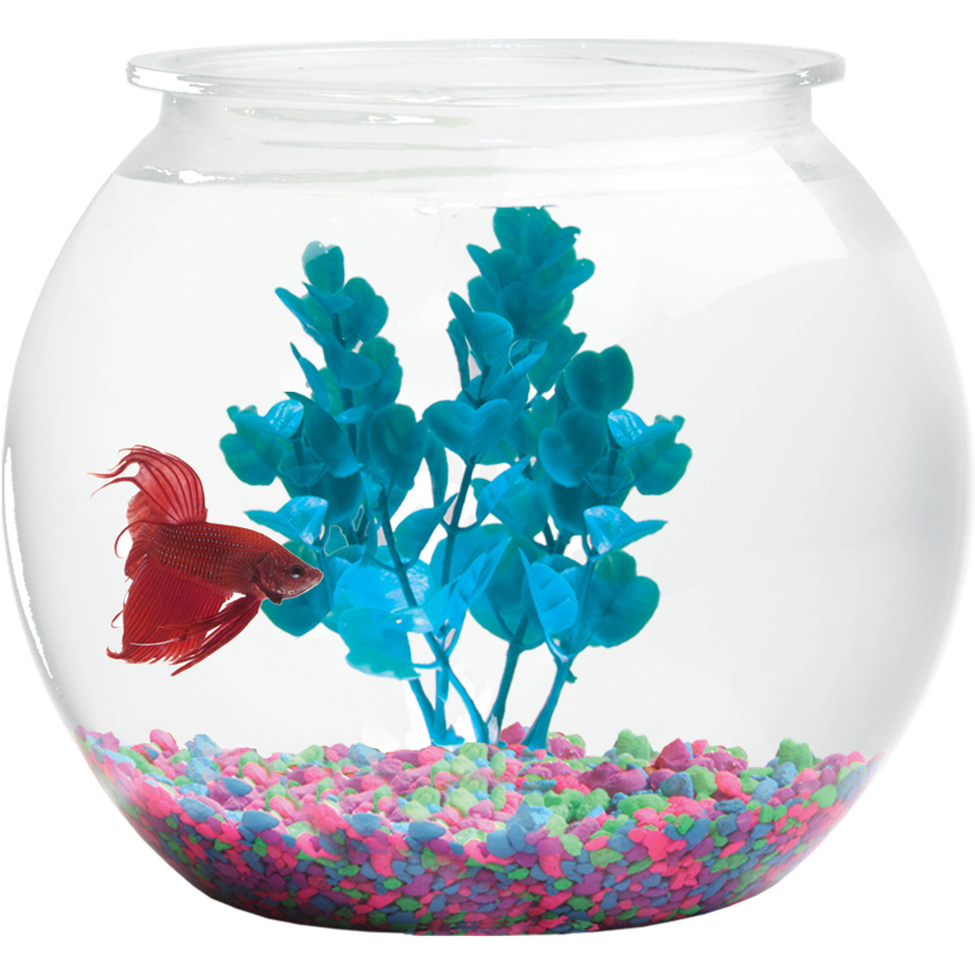 Hawkeye 2-Gallon Shatterproof Plastic Fish Bowl