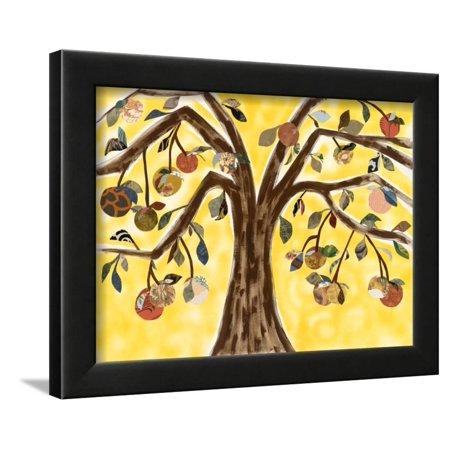 Yellow Orange Tree Framed Print Wall Art By Sisa - Yellow Wood Jasper