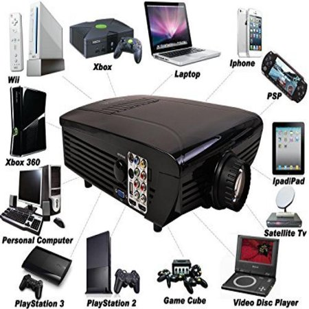 Best NEW Hd Home Theater Multimedia LCD Projector 1080-hdmi Tv DVD