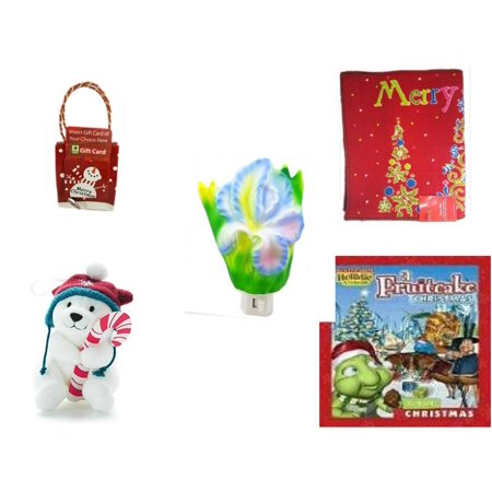 Christmas Fun Gift Bundle [5 Piece] - Musical Gift Card Holder Snowman - Merry  Door Mat  17.5