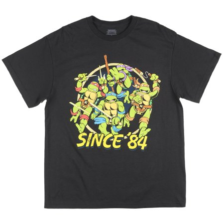 Teenage Mutant Ninja Turtles Since 84 T-Shirt Mens Black TMNT for $<!---->