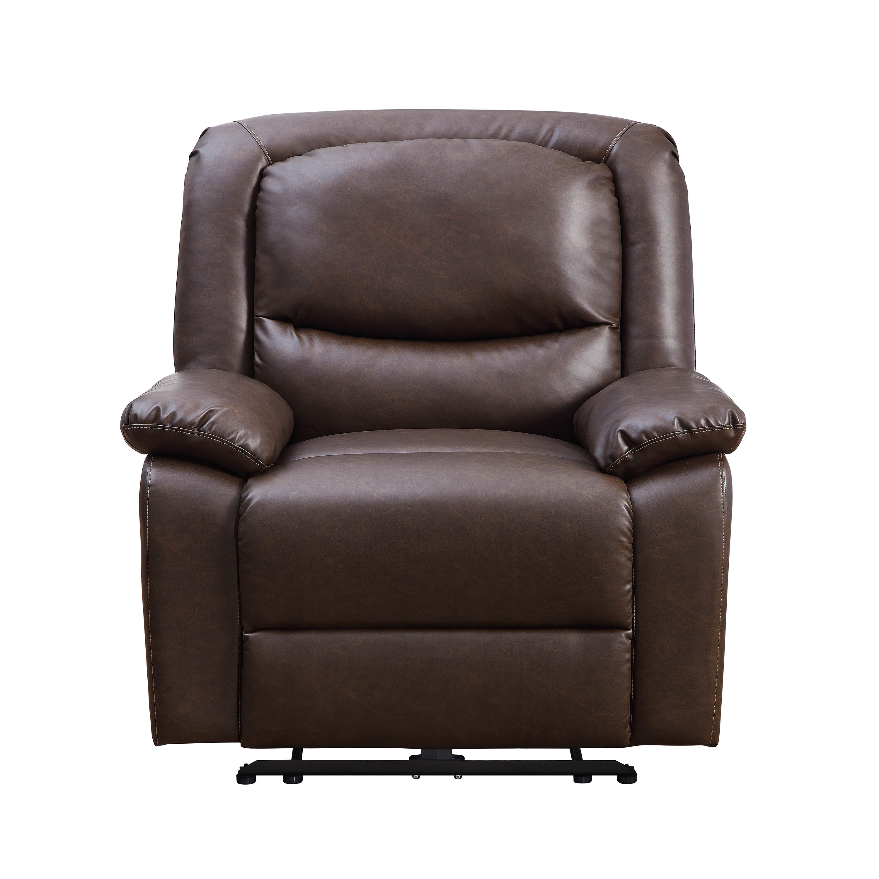Tremendous Serta Push Button Power Recliner With Deep Body Cushions Dailytribune Chair Design For Home Dailytribuneorg