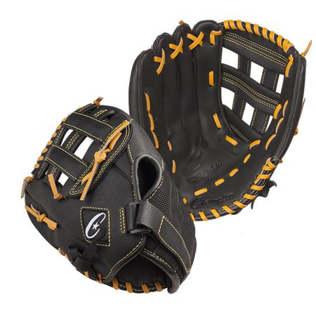 12 INCH LEATHER & NYLON BASEBALL/SOFTBALL GLOVE RIGHT HANDED - image 1 of 1