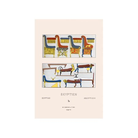 Egyptian Furniture - Beds, Couches, And Thrones Print (Unframed Paper Print 20x30)