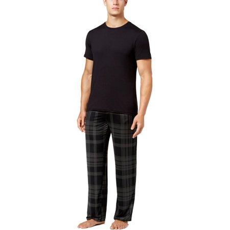 32 Degrees Cool Mens Plaid Elastice Waist Lounge Pants