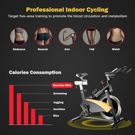Goplus Magnetic Exercise Bike Stationary Belt Drive Cycling Bike - image 6 of 10