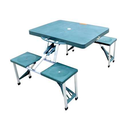 Outsunny Plastic Portable Outdoor Picnic Table - Small Picnic Table