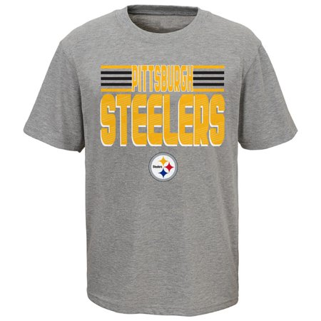 Youth Heathered Gray Pittsburgh Steelers Line T-Shirt