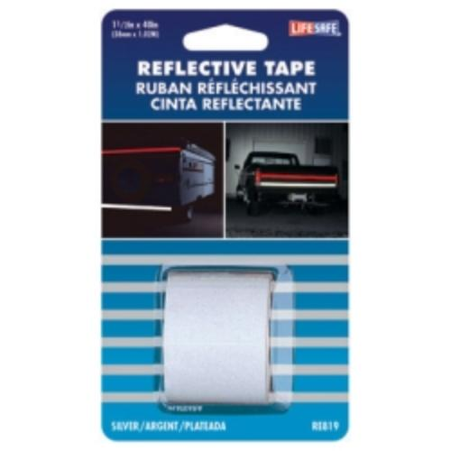 "Reflective Safety Tape, Silver, 1-1/2"" X 40"" Roll, Highly Reflective, Engineer Grade"