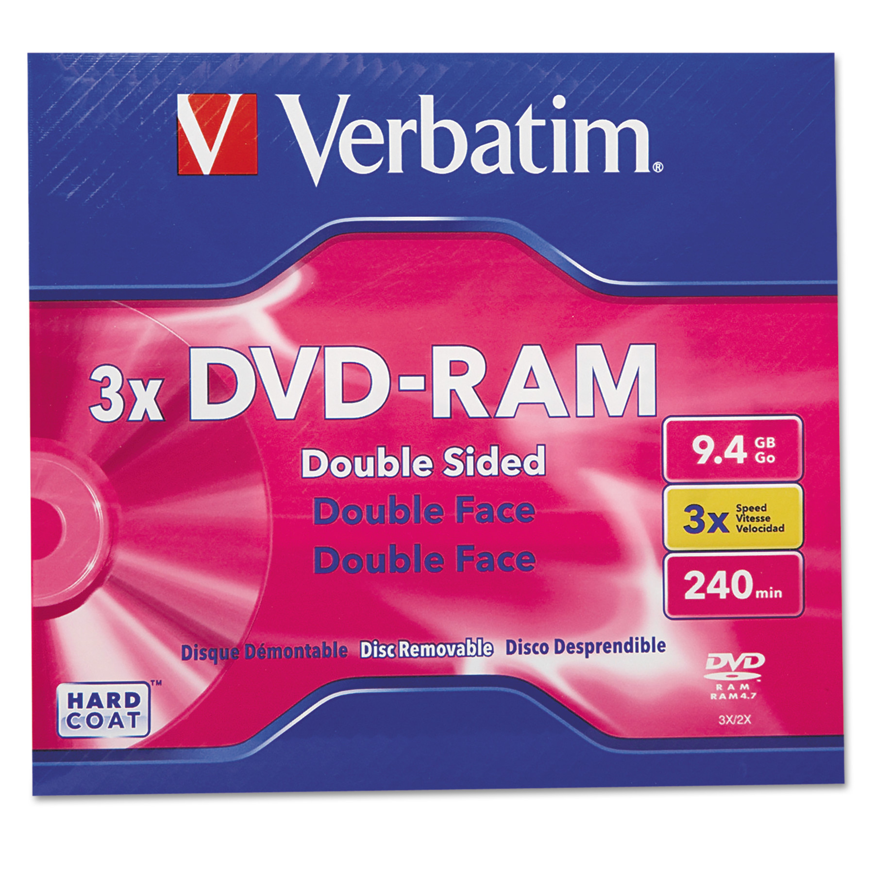 Verbatim Type 4 Double-Sided DVD-RAM Cartridge, 9.4GB, 3x -VER95003
