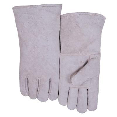 Leather Welder's Gloves, Shoulder Split Cowhide, Large,