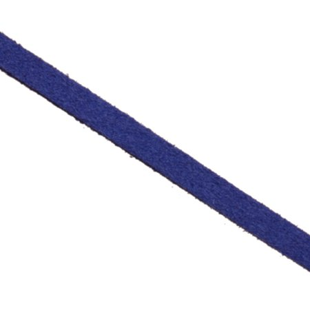 Faux Suede Lace Cord Indigo 4mm 6yard/pack (3-pack Value Bundle), SAVE $2