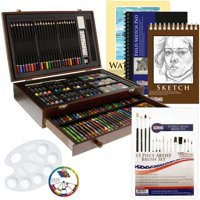 US Art Supply 162 Piece-Deluxe Mega Wood Box Art Deals