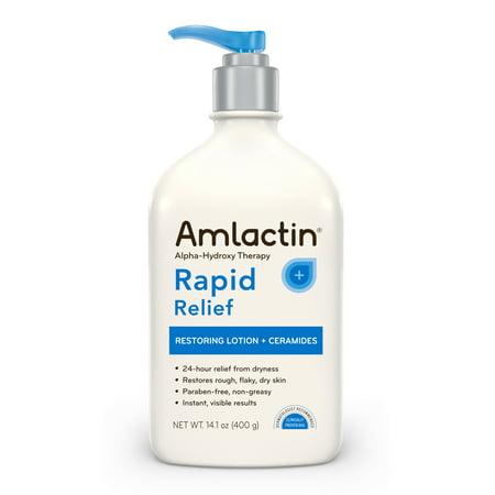 AmLactin Rapid Relief Restoring Lotion + Ceramides, 14.1 Pump