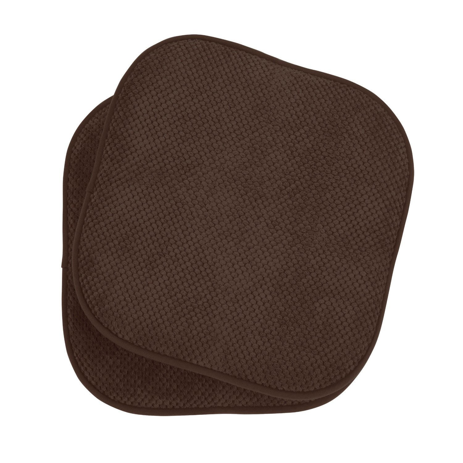 2 Pack: GoodGram Non Slip Ultra Comfort Memory Foam Chair Pads Brown by GoodGram