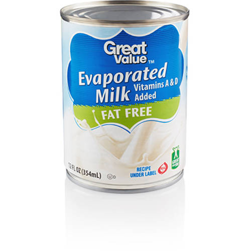 Great Value Evaporated Fat Free Milk, 12 oz