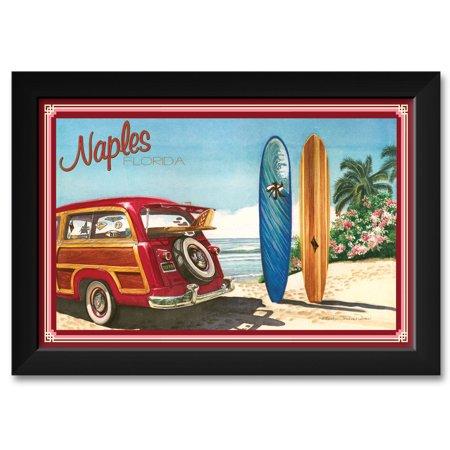 Naples FL Framed Art Print by Evelyn Jenkins Drew. Print Size: 12