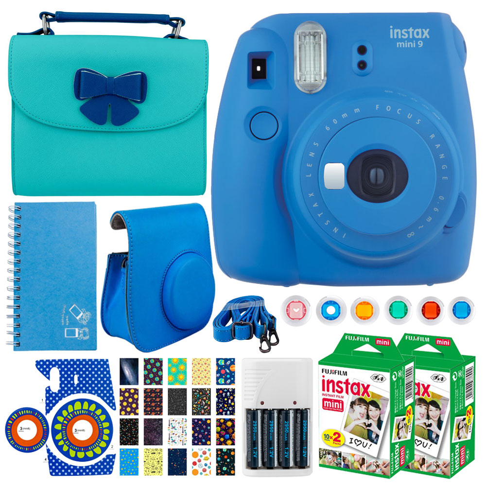 FujiFilm instax mini 9 Instant Film Camera (Cobalt Blue) + FujiFilm Instax Film (40 Shots) + Accessory &... by Fujifilm