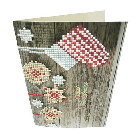 Diamond Cartoon Painting Mini Santa Claus Merry Christmas Paper Craft Postcards](Paper Christmas Crafts)