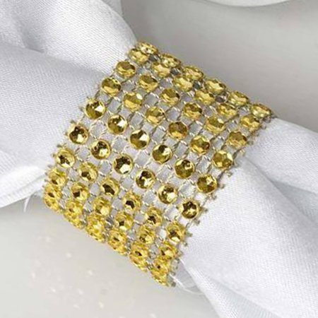 BalsaCircle 10 pcs Diamond Napkin Rings Table Top Decorations for Party Wedding Events Restaurant Catering Dinner Home Teal Napkin Ring