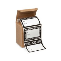 Jumbo Black and White Chalkboard Wishes Peel and Stick Gift Tag Labels -72ct