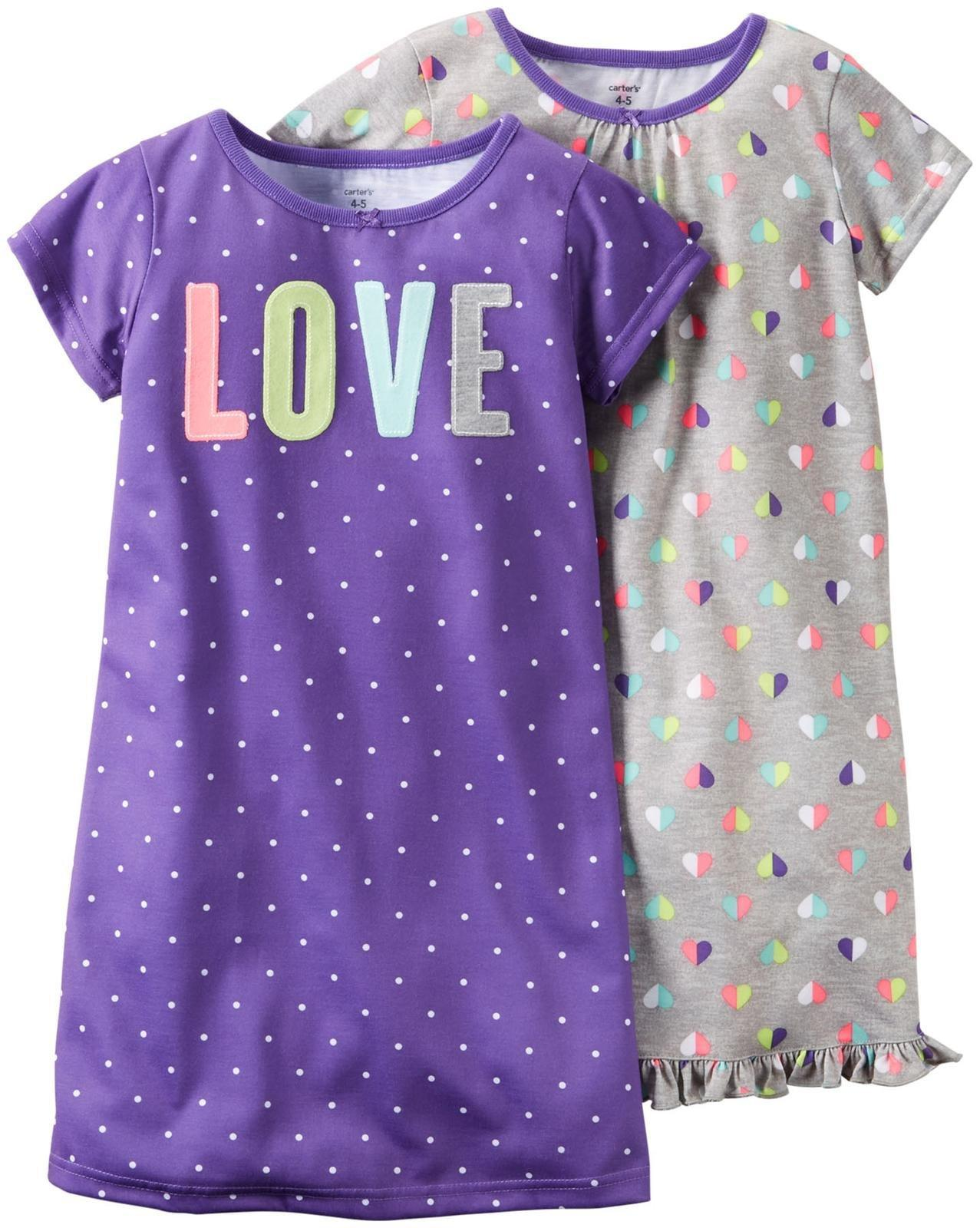 Print Gowns (2 Pack), Dots/Hearts