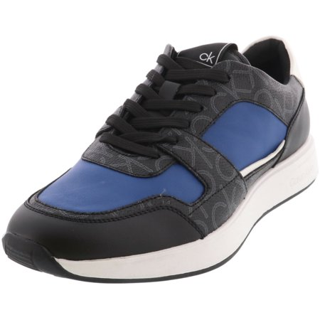 Calvin Klein Men's Dudley Smooth Black Low Top Leather Sneaker - 13M