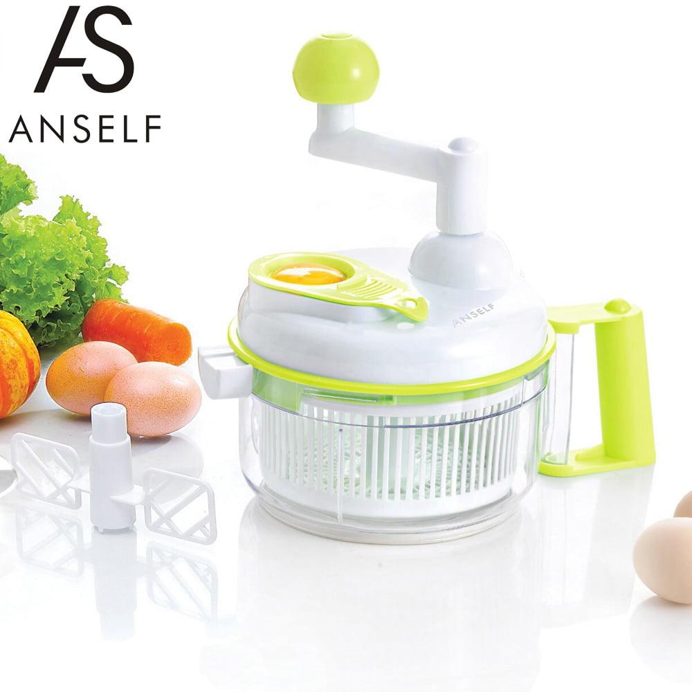 Anself Multi-functional Manual Food Vegetable Chopper Salad Maker Slicer for Fruit Onion Garlic Coleslaw by