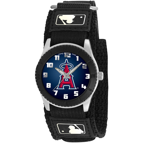 Game Time MLB Kids' LA Anaheim Angels Rookie Series Watch, Black Velcro Strap by Generic