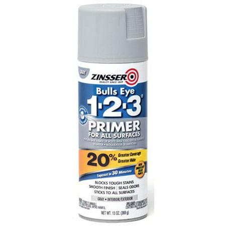 Zinsser Bulls Eye 1-2-3 Primer Spray, Gray (Flat Gray Spray Paint)