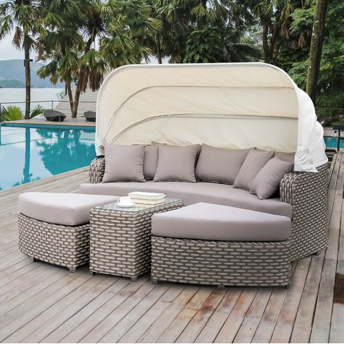Latitude Run Overbeck Complete Patio Set with Cushion