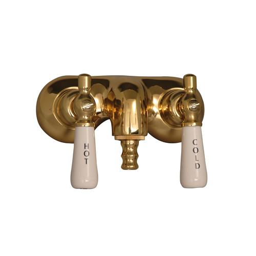 Barclay Leg Tub Filler with Old Style Spigot and Porcelain Lever Handles