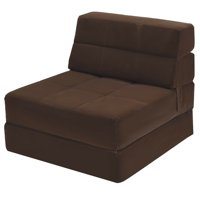Costway Tri-Fold Fold Down Chair Flip Out Lounger Convertible Sleeper Bed Couch Dorm