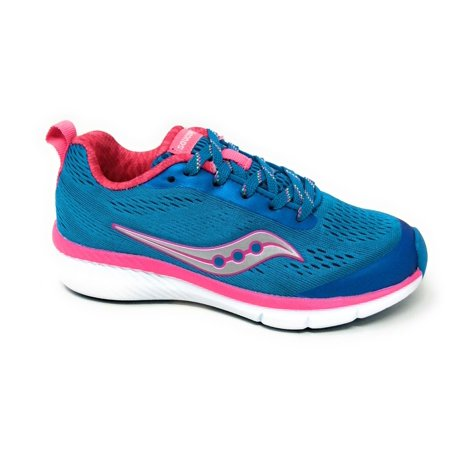 Saucony Girls Ideal Running Sneaker Blue Pink Youth Size 11 (Best Junior Running Shoes)