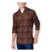 Tasso Elba Mens Printed Shawl Sweater